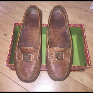 GUC Sz 9 Tory Burch leather driving moccasins